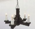 Rustic 5-Light Pendant Light | Tradwoodlights
